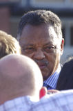 Michael Brown Funeral. Jesse Jackson talking to reporters at Michael Browns funeral in St. Louis Mo Stock Images