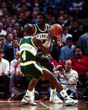 Michael Cage, Seattle Supersonics Royalty-vrije Stock Afbeelding