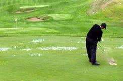 Michael Campbell juega a golf Imágenes de archivo libres de regalías