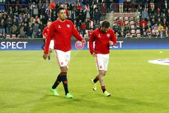 Michael Carrick and Juan Mata Manchester Unied Royalty Free Stock Photo
