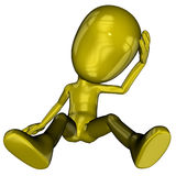 Michael cartoon character. 3D rendered cartoon Michael figure on white background isolated Stock Photos
