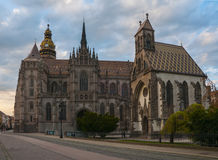 Michael chapel and St. Elisabeth cathedral in Kosice, Slovakia Royalty Free Stock Images