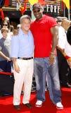 Michael Clarke Duncan e Dustin Hoffman Fotos de Stock Royalty Free