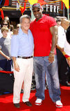 Michael Clarke Duncan und Dustin Hoffman Lizenzfreie Stockfotos