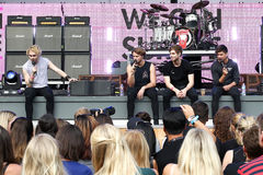 Michael Clifford, Ashton Irwin, Luke Hemmings, Calum Hood Foto de Stock Royalty Free