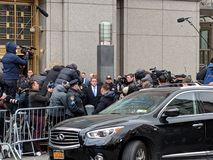 Michael Cohen leaving Federal Court stock photography