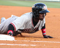 Michael De Leon, Hickory Crawdads Stock Photo