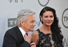 Michael Douglas & Catherine Zeta-Jones zdjęcie stock
