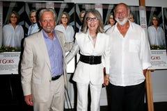 Michael Douglas, Diane Keaton, Rob Reiner Stockbilder