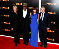 Michael Douglas, Morgan Freeman, Mary Steenburgen, Robert DeNiro Stock Photos
