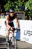 Michael Egan in the Coeur d' Alene Ironman cycling event Royalty Free Stock Photos