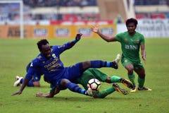 Michael Essien Persib vs Bhayangkara Royaltyfri Fotografi