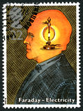 Michael Faraday UK Postage Stamp Royalty Free Stock Image