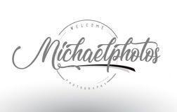 Michael fotografii loga Osobisty projekt z fotografa imieniem royalty ilustracja