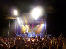 Michael Franti and Spearhead performs on stage at Wanderlust Royalty Free Stock Photos
