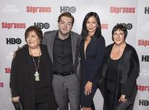 Michael Gandolfini & Deborah Lin reunião do aniversário dos sopranos na 20a fotografia de stock
