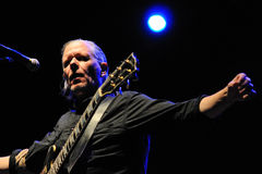 Michael Gira, singer and guitarist of Swans band, performs at Sant Jordi Club Stock Image