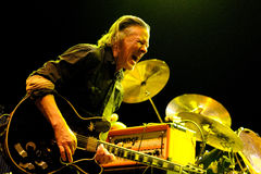 Michael Gira, singer and guitarist of Swans band, performs at Sant Jordi Club Stock Photos