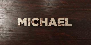 Michael - grungy drewniany nagłówek na klonie - 3D odpłacający się królewskość bezpłatny akcyjny wizerunek Zdjęcia Stock
