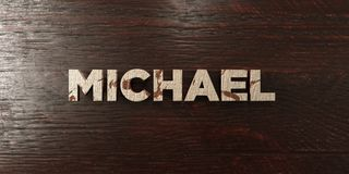 Michael - grungy wooden headline on Maple  - 3D rendered royalty free stock image. This image can be used for an online website banner ad or a print postcard Stock Photos