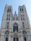 The Michael and Gudule cathedral Royalty Free Stock Photo