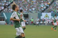 Michael Harrington playing soccer Stock Photos
