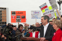 Michael ignatieff addresses nortel pensioners Stock Photos