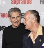 Michael Imperioli & Tony Sirico reunião do aniversário dos sopranos na 20a fotografia de stock royalty free