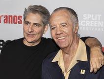 Michael Imperioli y Tony Sirico en 'el acontecimiento de los sopranos foto de archivo libre de regalías