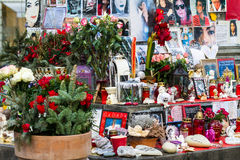 Michael Jackson altar in Munich Stock Images