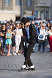 Michael Jackson Billie Jean performer - Crowd behind Stock Images