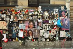 Michael Jackson fan wall Stock Photos