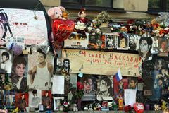 Michael Jackson fan wall. In Saint Petersburg Stock Photos