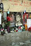 Michael Jackson fan wall. In Saint Petersburg Stock Photography