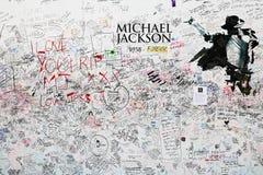 Michael Jackson gedenkteken Stock Afbeelding