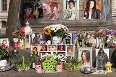 Michael Jackson gedenkteken in München Stock Foto's