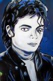 Michael Jackson grafittistående Fotografering för Bildbyråer