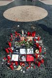 Michael Jackson Hulde in Barcelona royalty-vrije stock foto's