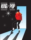 Michael Jackson, Koning van Pop Gedenkteken 1 in reeks! Stock Foto's