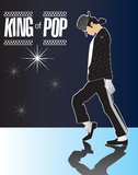 Michael Jackson, Koning van Pop Gedenkteken 2 in reeks! Stock Fotografie