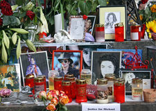 Michael Jackson memorial Royalty Free Stock Images