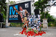 Michael Jackson Memorial Royalty Free Stock Photos
