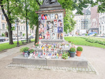 Michael Jackson memorial munich Stock Photos