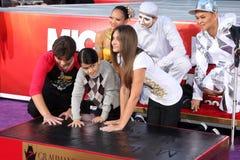 Michael Jackson, París Jackson, príncipe, príncipe Michael Jackson, príncipe Michael Jackson II, Jackson combinada Fotografía de archivo libre de regalías