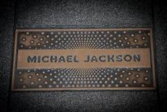 Michael Jackson paving slab Royalty Free Stock Photo