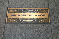 Michael Jackson Plaque Royalty Free Stock Photos