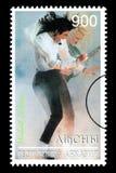 Michael Jackson Postage Stamp imagenes de archivo