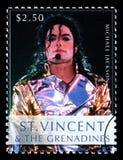 Michael Jackson Postage Stamp foto de archivo