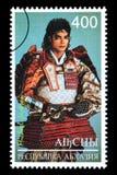 Michael Jackson Postage Stamp. RUSSIA - CIRCA 2005: A postage stamp printed in Russia showing Michael Jackson, circa 2005 Stock Image