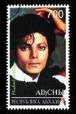 Michael Jackson Postage Stamp. RUSSIA - CIRCA 2005: A postage stamp printed in Russia showing Michael Jackson, circa 2005 Royalty Free Stock Image
